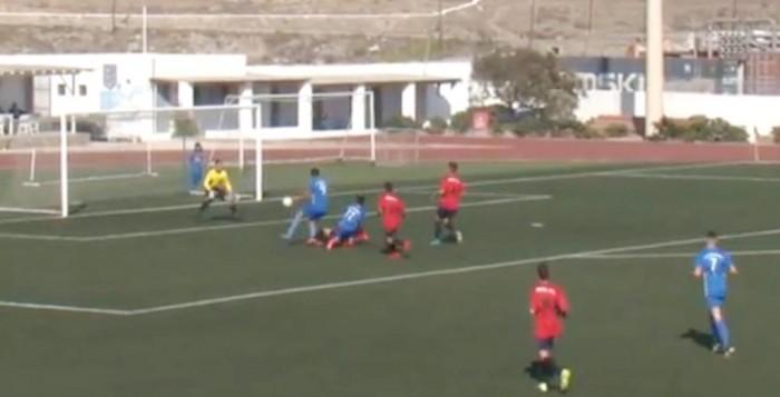 (VIDEO) Δείτε τα γκολ από τον αγώνα της Κ-16 του ΑΟ Μυκόνου με τον Α.Ο. Πάγου