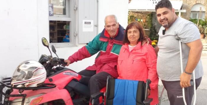 Δόθηκε το πρώτο αναπηρικό αμαξίδιο