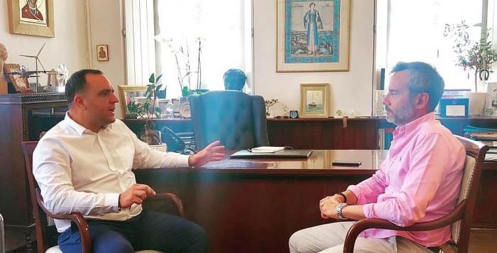 Ο Κωνσταντίνος Κουκάς υποδέχθηκε τον νεοεκλεγέντα Δήμαρχο Θεσσαλονίκης Κωνσταντίνο Ζέρβα