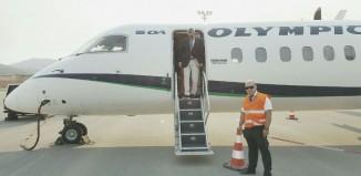 Πρώτη πτήση στο νέο αεροδρόμιο της Πάρου