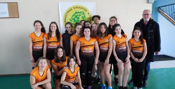 Αισιόδοξο το μέλλον για το βόλεϊ στη Μύκονο. Συγχαρητήρια στα κορίτσια του Γυμναστικού Συλλόγου