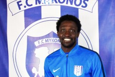 Ο Τουρέ στην ανδρική ομάδα ποδοσφαίρου του ΑΟ Μυκόνου