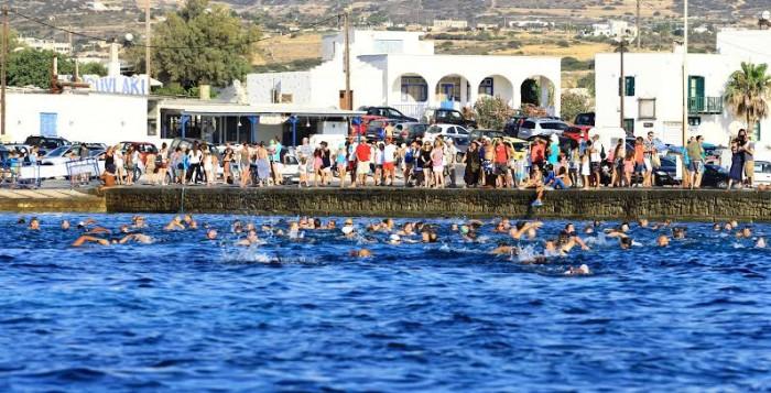 Ένατος κολυμβητικός διάπλους Πάρου – Αντιπάρου (εικόνες)