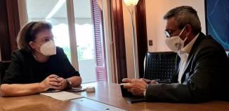 Συνεργασία του Περιφερειάρχη Γιώργου Χατζημάρκου με την Υπουργό Πολιτισμού Λίνα Μενδώνη