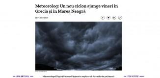 Μετεωρολόγος από τη Ρουμανία κρούει τον κώδωνα του κινδύνου: Κυκλώνας θα περάσει την Παρασκευή από την Ελλάδα