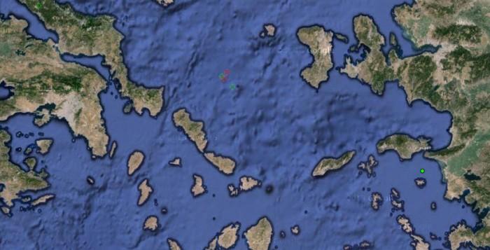 Σεισμός 4,8 Richter ΒΑ της Άνδρου