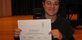 Τιμήθηκε με 1ο έπαινο ο Ραφαήλ Ρήγας σε Πανελλήνιο διαγωνισμό πιάνου