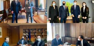 Συναντήσεις του Δήμαρχου Μυκόνου με την Πολιτική Ηγεσία των Υπουργείων Εσωτερικών, Τουρισμού, Περιβάλλοντος και Ενέργειας