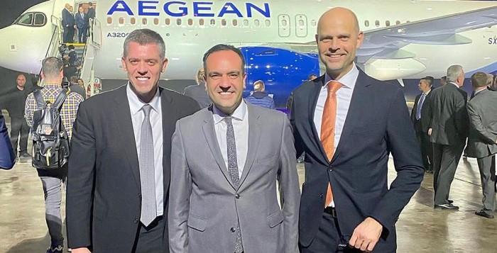 Ο Δήμαρχος Μυκόνου στη παρουσίαση για τα νέα αεροσκάφη της Airbus A320neo