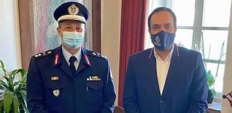 Επίσκεψη του νέου Περιφερειακού Αστυνομικού Διευθυντή Ν.Α. στη Μύκονο