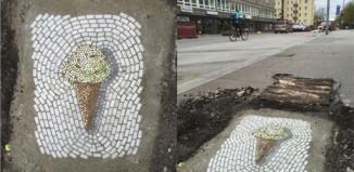 Όταν έχεις φαντασία... μετατρέπεις ακόμη και τις λακκούβες σε έργα τέχνης!