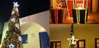 (vid) Χριστούγεννα στη Μύκονο με τον πιο εντυπωσιακό στολισμό