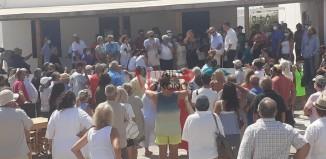 Πραγματοποιήθηκε η συγκέντρωση στη πλατεία της Άνω Μεράς και ξεκίνησε η πορεία για το Καλό Λιβάδι