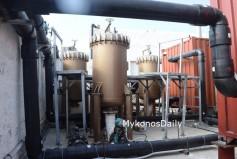 (Φωτο) Έτοιμη να δώσει νερό η νέα αφαλάτωση 2.500 κυβικών