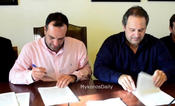 Έπεσαν οι υπογραφές για το κλειστό «Δώρο αφιερωμένο στη νέα γενιά της Μυκόνου» δήλωσε ο Δήμαρχος