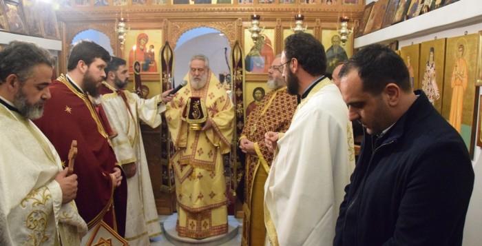 (φωτο) Αγρυπνία στο παρεκκλήσι του Αγίου Μηνά από τον Σεβασμιότατο Δωρόθεο Β'
