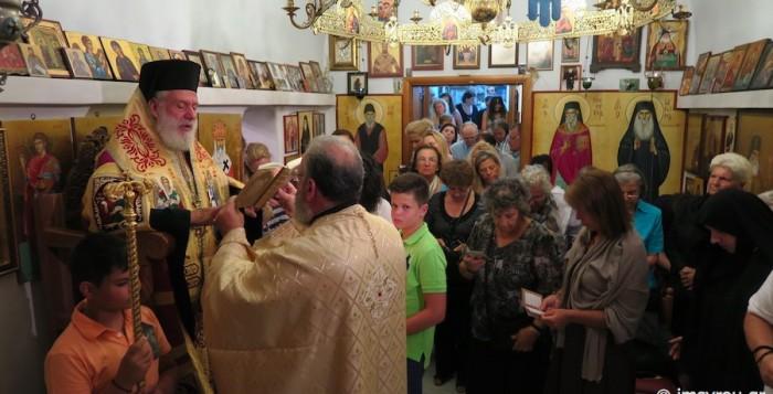 Ιερά παράκληση στο παρεκκλήσι του Αγίου Μηνά