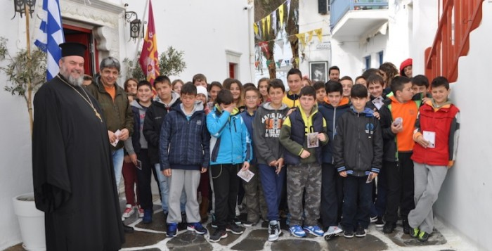Την εικόνα της Παναγίας της Τουρλιανής προσκύνησαν οι μαθητές της ΣΤ' δημοτικού