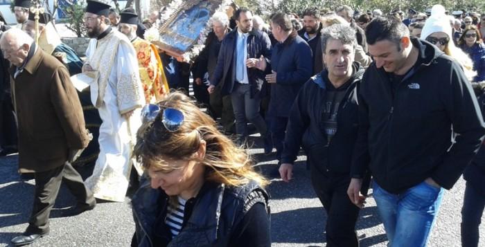 Παρουσία πλήθος πιστών η κάθοδος της Παναγιάς στην χώρα