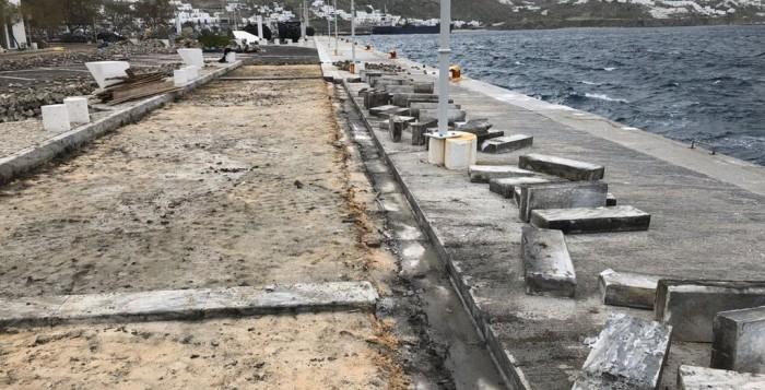 Εργασίες αντικατάστασης κυβόλιθων και δημιουργία διαδρόμων ΑΜΕΑ στο νέο λιμάνι