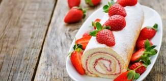 Γλυκό ρολό φράουλας