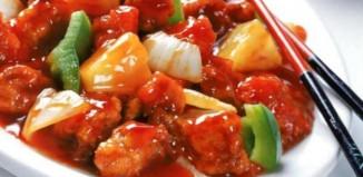Χοιρινό με γλυκόξινη σάλτσα και ρύζι
