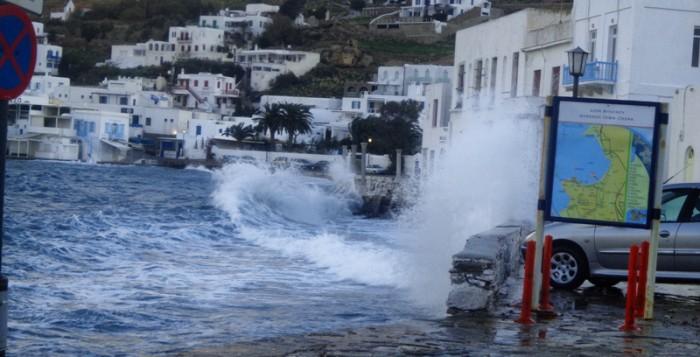 Ανακοίνωση Δήμου Μυκόνου λόγω ακραίων καιρικών φαινομένων και πολύ ισχυρών ανέμων στο νησί τις επόμενες ώρες