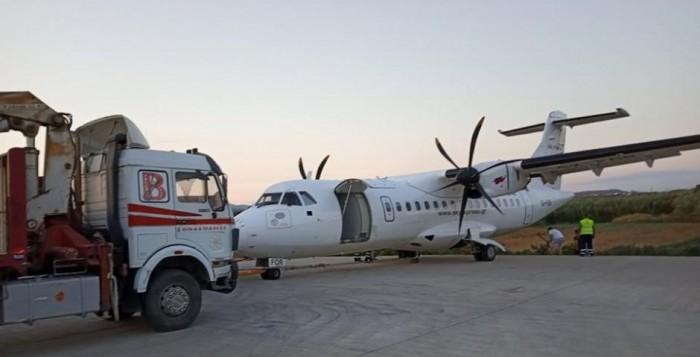 Νάξος - Αεροδρόμιο: Απομάκρυνση του αεροπλάνου, κανονική η λειτουργία του αεροδρομίου