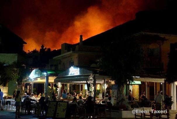 Μεγάλη πυρκαγιά στην Κέα