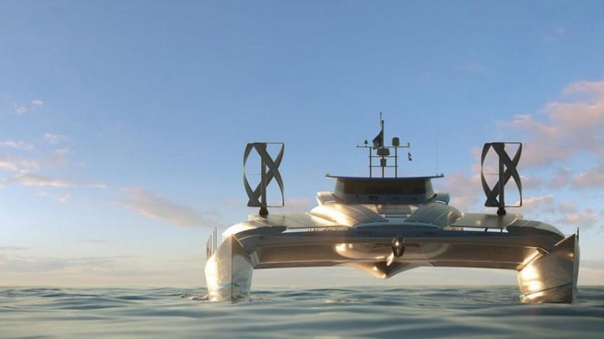 (ΦΩΤΟ) Energy Observer: Το πιο φουτουριστικό - ενεργειακό σκάφος όλων των εποχών έπιασε Μύκονο!