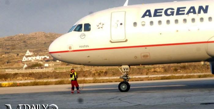 Με αεροπλάνα της olympic air στο εξής όλες οι πτήσεις για Μύκονο