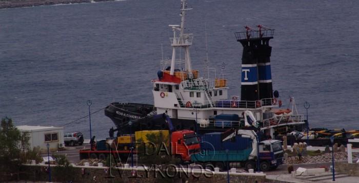 Ρυμουλκό σπεύδει για βοήθεια στο ακυβέρνητο πλοίο ανοιχτά της Μυκόνου