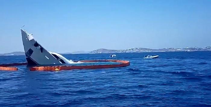 Video - Φράγμα για την αποφυγή ρύπανσης από το ναυάγιο του ALOXA