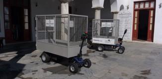 Νέα μηχανοκίνητα καρότσια για την συγκομιδή απορριμμάτων