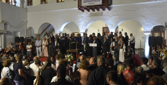 (pics&vid) Ορκίστηκε ο Δήμαρχος και το Δημοτικό Συμβούλιο Μυκόνου