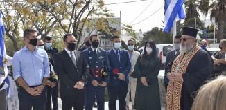 Κατάθεση στεφάνων στο Μνημείο των Πεσόντων Ανωμεριτών