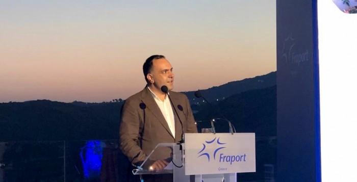Ο Δήμαρχος Μυκόνου στην εκδήλωση της Fraport για την παρουσίαση του αεροδρομίου Μυκόνου