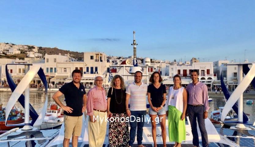 Ο Δήμαρχος κ. Κουκάς και αντιπροσωπεία του Δήμου Μυκόνου στο Energy Observer - Φωτογραφίες από το εσωτερικό του εντυπωσιακού σκάφους