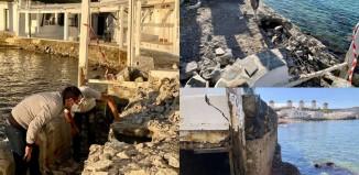Προχωρούν οι εργασίες για την αποκατάσταση των φθορών σε Μικρή Βενετία και Αλευκάντρα