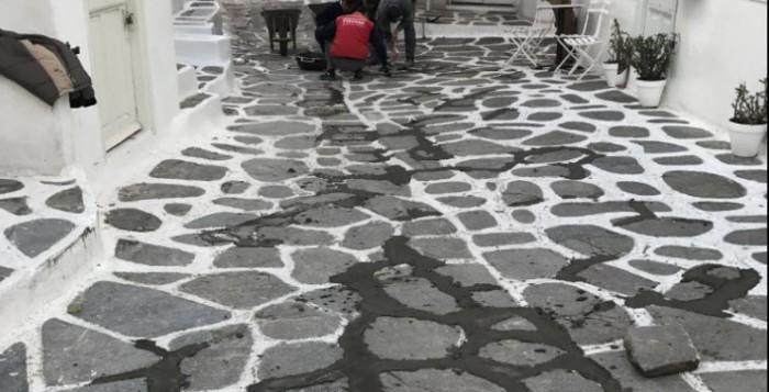 Αποκατάσταση του πλακόστρωτου την Τρίτη στο Ματογιάννι