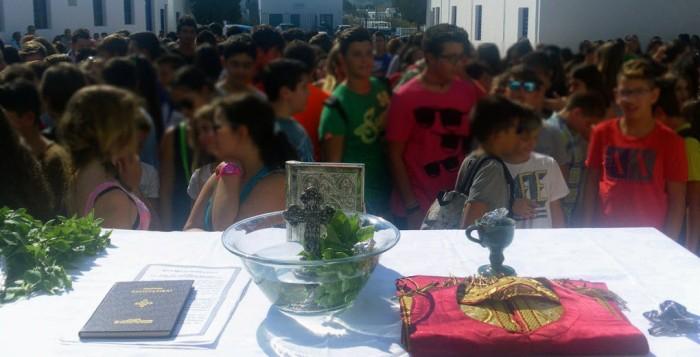 Αγιασμός με 250 κενά στα σχολεία των Κυκλάδων