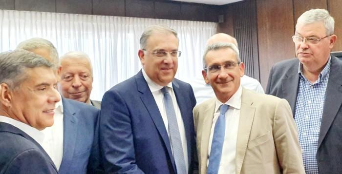 Ο Γιώργος Χατζημάρκος στην πρώτη συνάντηση του νέου Υπουργού Εσωτερικών με τους Περιφερειάρχες της χώρας