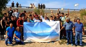 """(φωτο) Ξεκίνησε η μεγάλη περιβαλλοντική καμπάνια """"Keep Aegean Blue"""", της Περιφέρειας Νοτίου Αιγαίου"""