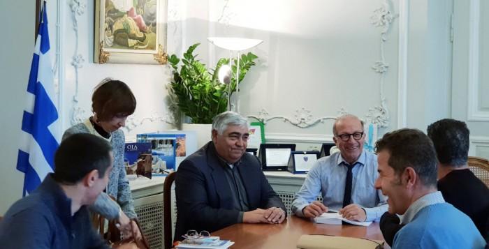 Συνάντηση εργασίας Γιώργου Λεονταρίτη με τον Δήμαρχο Μήλου
