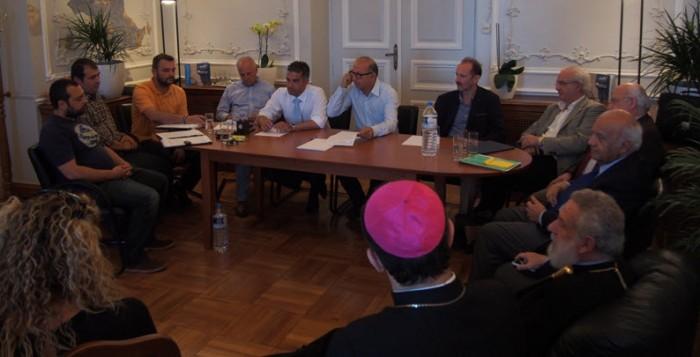 Συνάντηση της διοίκησης του Νεωρίου και των εργαζομένων με τον Αντιπεριφερειάρχη Κυκλάδων