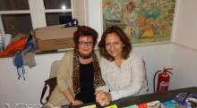 Οι συγγραφείς κυρίες Ζαϊρη και Βακάλη στην έκθεση
