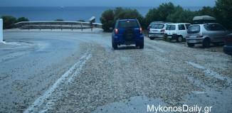 (Δείτε φωτο) Προβλήματα στους δρόμους προκάλεσε η βροχόπτωση - Οδηγοί Προσοχή!