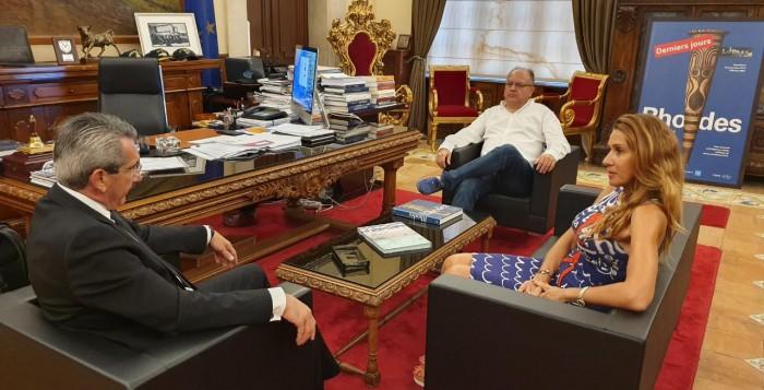 Συνάντηση του Περιφερειάρχη με τον Διευθυντή του ΙΜΕΤ, Ευάγγελο Μπεκιάρη