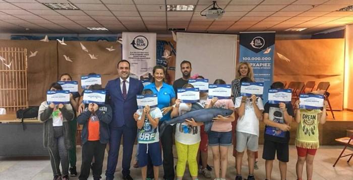 (vid) Ο Δήμαρχος Μυκόνου για μια ακόμη φορά στήριξε το «All for blue»