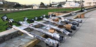 Ξεκίνησε η τοποθέτηση των νέων φωτιστικών στην Άνω Μερά
